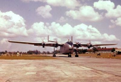 A Blackburn Beverley at RAF base Seletar, Singapore 1953.