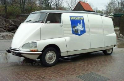 A Citroen HY van, based on the DS chassis.