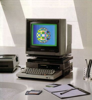 A Sony computer workstation from the late 1980's.