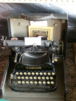 A rather rare find, a Corona 1926 Folding Typewriter Model 3, as seen in 2017.