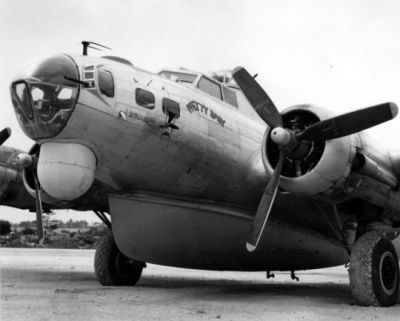 A B17 Search And Rescue (SAR) variant featuring a drop-able life boat in the belly, stationed at Okinawa in 1945.