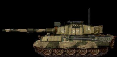An artist's depiction of what a German Tiger II might look like today if the Germans, much like the Soviets and Americans after the war, had continuously upgraded their old weapons for use in future wars up to the present day.