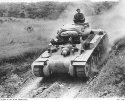 An Australian Cruiser Mk.1 (AC1) tank in 1942.