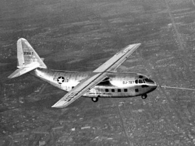 Trial flights of the XG-20 glider, as seen in 1950.  The XG-20 would later be equipped with engines, and redesignated the C-123 Provider.