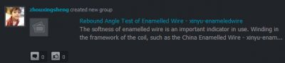 I do not know why the Chinese spammers think the the community here is interested in enameled wire. I had to look it up to even figure out what it was. Weird...  If you see them posting junk, just ignore them- we'll have them booted in short order.