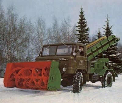 A Soviet UP66 snow plow machine, sometime in the late 1960's.