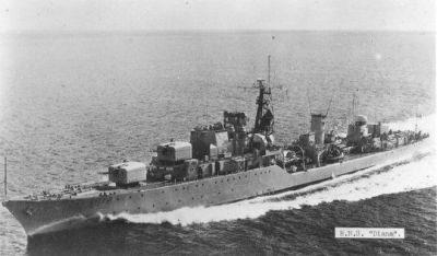 HMS Diana as seen in 1945.