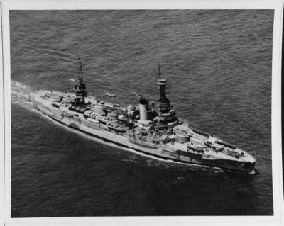 USS Arkansas as seen in 1925.