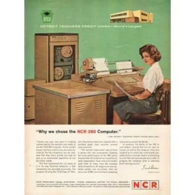 An NCR 390 advertisement.