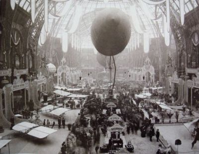 """A very """"steampunk"""" Indoor Aviation Show from 1909."""