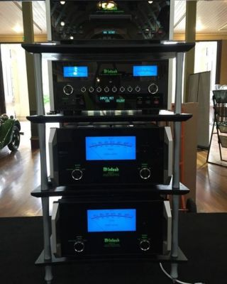 A set of awesome-looking McIntosh Audio machines.