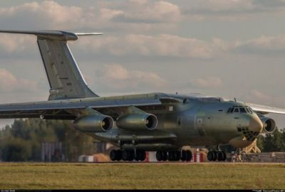 An IL-76 in Silver.