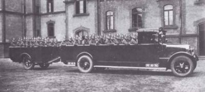 In 1926 the MAN company began producing very large trucks for the German police, as they were forbidden from manufacturing them for the German army under the treaty of Versailles. But, so long as it was 'only' for the police, it was okay...