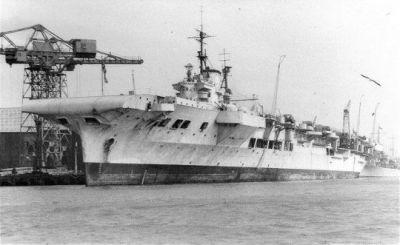 HMS Victorious, 1950.