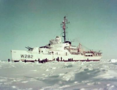 A Wind class armed icebreaker ship of the United States Coast Guard, intended to ward off and potentially escort wayward Soviet vessels in the Arctic Ocean that might stray too close to Alaska, or American facilities in Greenland, and northern Canada.