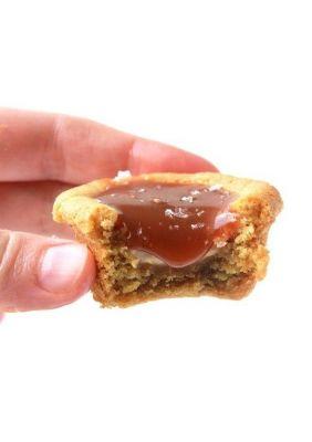 A caramel cookie.