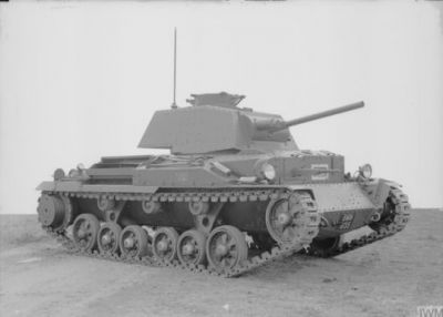 The British A10 tank, also known as the Cruiser Mk.II.