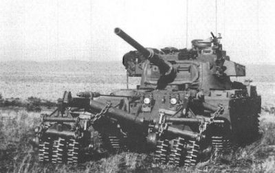 "A South African Centurion ""Olifant"", an up-gunned and modified variant that featured heavier armor and anti-mine countermeasures."