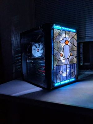 A really nice PC with some master-race stained glass work.  Someone worked awful hard for this.