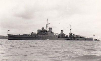 The HMS Newscatle, 1937.