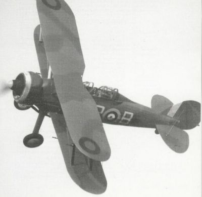 A Gloster Gladiator in flight. The Gladiator was the last biplane in Royal Air Force service during World War Two, and is considered the last great combat biplane, and the pinnacle of biplane development for the time. Gloster would miss out on much of the monoplane years that followed, before returning in force at the end of the war with the first Allied jet fighter, the Gloster Meteor. Gloster would also develop the world's first jet airliner, the ill-fated Gloster Comet of the 1950's.