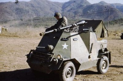 A very small American combat car, the name of which presently eludes me.