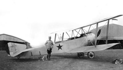 A fighter plane of the Soviet Red Air Force in 1922, mostly holdovers from the Russian air forces of World War One.