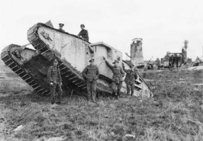 A Mk.V heavy tank in 1918.