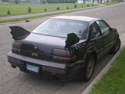 If Batman bought a Pontiac Grand Prix.
