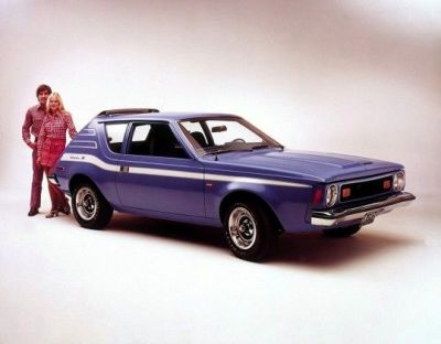 The 1973 AMC Gremlin X, in all it's strange glory.