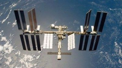 The International Space Station, as seen in 2014.