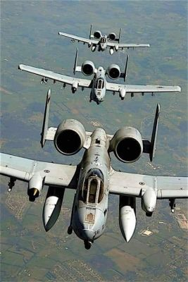 A-10 Warthogs in formation, 2004.