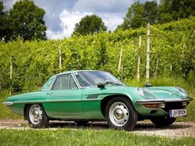 A 1969 Mazda Cosmo, a very stylish little car from a time when car design had a bit more personality.