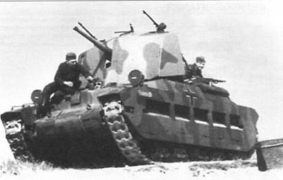 A Matilda II tank, captured and modified by the Germans for the latter half of the African campaign.