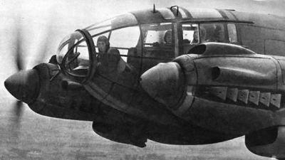 A close look at an HE-111's glass nose.