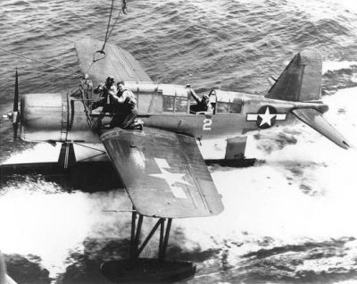 An O2SU Kingfisher, a US Navy mainstay of World War Two.
