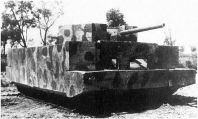A T-34 with prototype concrete armor that didn't catch on.