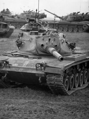 An M60A3 Patton tank looking very cool.