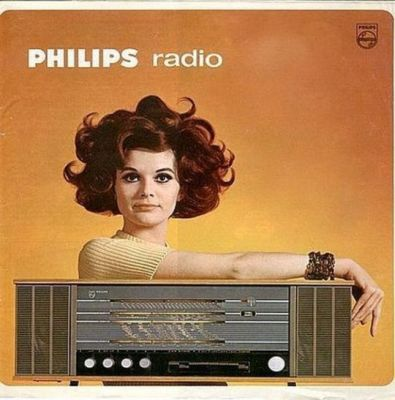 A vintage ad for Philips brand radio sets, back when a radio set was a rather serious piece of hardware.