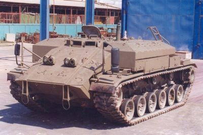 The Israeli prototype for the Magachon Armored Personnel Carrier, based on the American M60 Patton tank.