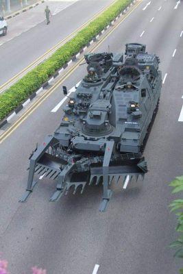 A Kodiak engineering vehicle, based on the German-built Leopard 2 tank.