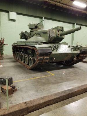 The M60 Starship on display.