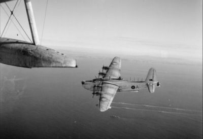 A Short Sunderland flying boat as seen in 1943.