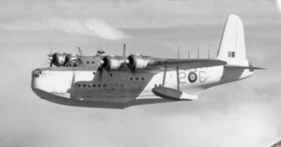 A Short Sunderland flying boat in service with Canada, World War Two.