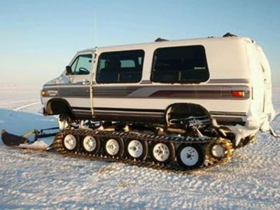 A van that's also a tank. Neat!