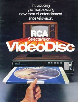 "RCA SelectaVision VideoDisk, a really long title for what would become the ""CED"" System. This product flopped so hard, it destroyed the RCA Corporation."