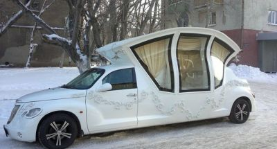 The PT Cruiser Wedding Carriage. Oh my.