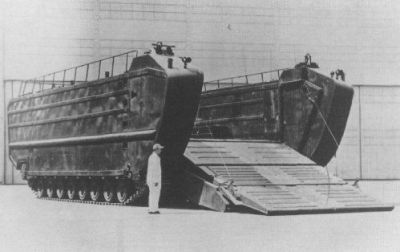 Is it a tank or a landing craft? You decide the fate of the immense LVT(U)X2 Goliath (Landing Vehicle Tracked). ;)