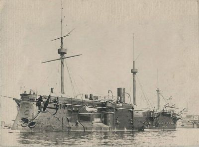 Cruiser SMS Erzherzog Albrecht, Austria, 1889. Back when Austria had both coastline and a navy.