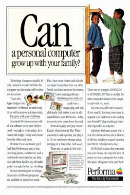 A print ad for the Apple Performa series of computers, sometime from the early 1990's.